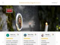 Frontpage screenshot for site: Fotokeramika Zagreb d.o.o. (http://www.fotokeramika-zagreb.hr)