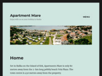 Frontpage screenshot for site: Apartmani Mare Baška (http://www.apartment-mare.com)