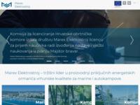 Frontpage screenshot for site: Marex - elektrostroj d.o.o. Zadar (http://www.marex-elektrostroj.hr/)