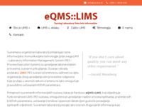 Slika naslovnice sjedišta: eQMS LIMS - višenamjenski LIMS & Process Execution System (http://www.lims.hr)
