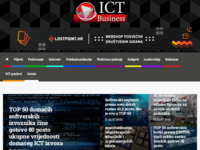 Frontpage screenshot for site: ICT Business (http://www.ictbusiness.info)