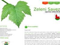 Frontpage screenshot for site: Zelena akcija (http://www.zesag.info)