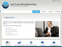 Slika naslovnice sjedišta: Datum Informatika (http://www.datum-informatika.hr)