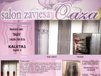 Frontpage screenshot for site: Salon zavjesa Oaza SPLIT (http://www.salon-zavjesa-oaza.hr)