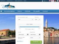 Frontpage screenshot for site: Smještaj u Rovinju (http://www.rovinj-apartments.com)