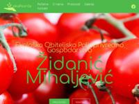 Slika naslovnice sjedišta: OPG Židanić Mihaljević, Šćitarjevo (http://www.opg-zidanic-mihaljevic.hr)