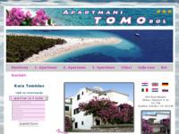 Frontpage screenshot for site: (http://www.apartmani-tomo-bol.com)