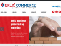 Frontpage screenshot for site: (http://www.erlic-commerce.hr/)