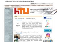 Slika naslovnice sjedišta: Hotelijersko turistička i ugostiteljska škola Zadar (http://www.htus.hr)