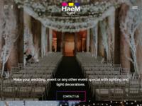Frontpage screenshot for site: HaeM Light - Rasvjeta i dekoracije za vjenčanja i evente (http://www.haemlight.com)