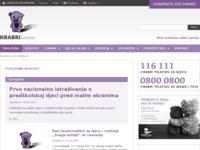 Frontpage screenshot for site: (http://www.hrabritelefon.hr)