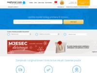 Frontpage screenshot for site: Zamjenski toneri za printere i zamjenske tinte s garancijom kvalitete (http://moj-toner.com/)