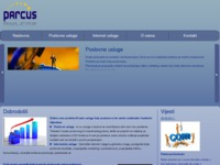Frontpage screenshot for site: Parcus d.o.o. (http://www.parcus.hr)
