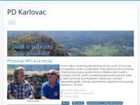 Slika naslovnice sjedišta: Planinarsko društvo Karlovac (http://www.pd-karlovac.hr)