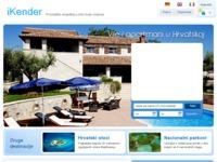 Frontpage screenshot for site: Apartmani i vile u Hrvatskoj (http://www.ikender.hr/ )