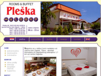 Frontpage screenshot for site: Buffet i prenoćište Pleška (http://www.pleska.hr)
