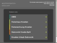 Frontpage screenshot for site: Apartmani Peričić Omiš (http://www.apartmanipericic-omis.com)