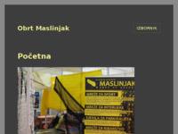 Slika naslovnice sjedišta: Maslinjak - mreže za sport i ribarstvo (http://www.maslinjak.hr)