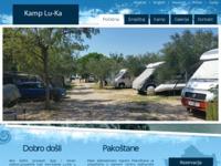 Frontpage screenshot for site: Kamp luka Pakoštane (http://www.campluka.com/)