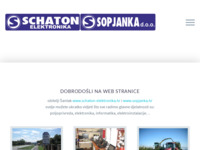 Frontpage screenshot for site: Schaton elektronika (http://www.schaton-elektronika.hr)