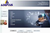 Frontpage screenshot for site: Adeptus computers (http://www.adeptus.hr)