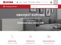 Frontpage screenshot for site: Exterim - Sve za CENTRALNO GRIJANJE (http://exterim.hr)