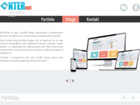 Slika naslovnice sjedišta: ENTERnet- obrt za web i grafički dizajn (http://www.enternet-dizajn.hr)