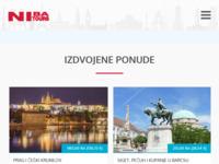 Frontpage screenshot for site: Niba tours (http://www.nibatours.hr)