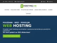 Frontpage screenshot for site: Web Hosting - Extreme Hosting - Hrvatski web hosting (http://www.xhosting.hr/)