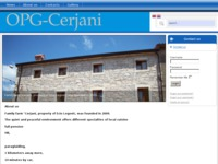 Frontpage screenshot for site: OPG Cerjani (http://opg-cerjani.hr)