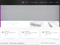 Frontpage screenshot for site: Euro Profil Valpovo (http://www.euro-profil.hr/)