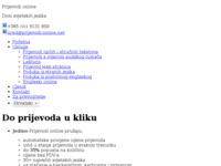 Frontpage screenshot for site: (http://www.prijevodi-online.net)