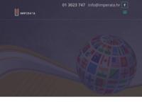 Frontpage screenshot for site: Imperata - Sudski tumači i prevoditelji (http://www.imperata.hr)