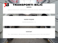 Slika naslovnice sjedišta: Transporti Bilić (http://www.transporti-bilic.hr)