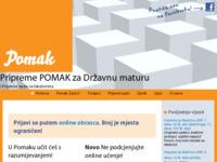Slika naslovnice sjedišta: Pripreme POMAK za Državnu maturu i Dodatne provjere na fakultetima (http://www.pripreme-pomak.hr)