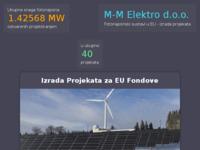 Frontpage screenshot for site: M-M Elektro d.o.o. (http://www.mmelektro.hr)