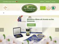 Slika naslovnice sjedišta: Aronialive - Bio proizvodi od aronije (http://www.aronialive.com)