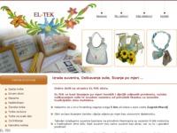 Slika naslovnice sjedišta: EL-TEK - Izrada suvenira, Oslikavanje svile, Šivanje po mjeri (http://el-tek-tkalcevic.hr)