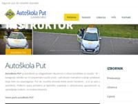 Slika naslovnice sjedišta: Autoškola Put (http://www.autoskola-put.hr)