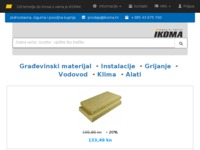 Frontpage screenshot for site: (http://www.ikoma.hr)