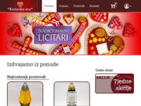Frontpage screenshot for site: Licitarsko srce d.o.o. Varaždin (http://www.licitarskosrce.hr)