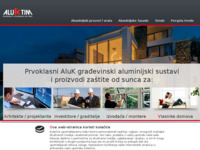Frontpage screenshot for site: (http://www.aluk.hr)