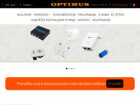 Frontpage screenshot for site: Optimus Bošnjak d.o.o. (http://www.optimus.com.hr)