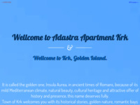 Frontpage screenshot for site: Adastra Apartman na otoku Krku (http://www.adastra-apartments.hr)