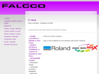 Slika naslovnice sjedišta: Falcco Design studio dizajna i tiska (http://www.falcco.hr)