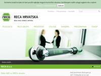 Frontpage screenshot for site: Reca d.o.o. (http://www.reca.hr)