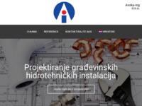 Frontpage screenshot for site: Avoka-ing d.o.o. (http://www.avoka-ing.hr)