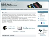 Frontpage screenshot for site: RGB toneri (http://rgb-toneri.hr)