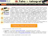 Slika naslovnice sjedišta: IB.TAHO (http://tahograf.inter-biz.hr)