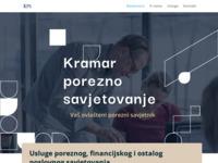 Frontpage screenshot for site: (http://www.kramar-porezno-savjetovanje.hr)